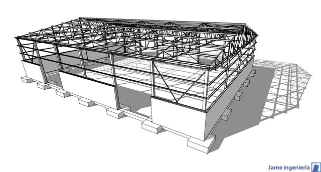 Jarne Ingenieru00eda: Proyecto de nave industrial en Almudu00e9var (Huesca).