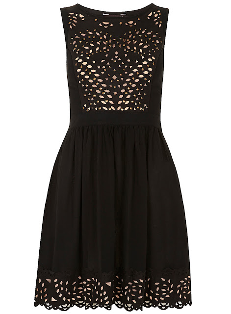 Black stud cutout top dress fashion style
