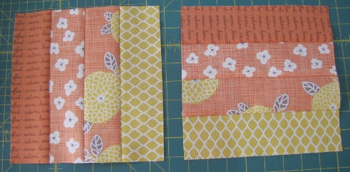 Rotate the units and sew together