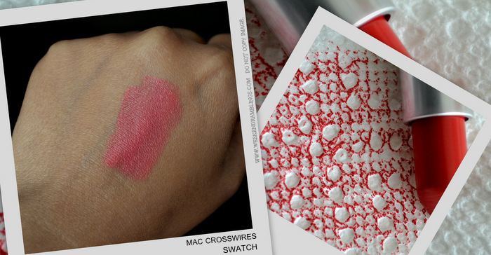 MAC Cosmetics Makeup Cremesheen Summer Coral Pink Lipstick Crosswires Beauty Blog Reviews Swatches FOTD Looks Ingredients Indian Darker Skin