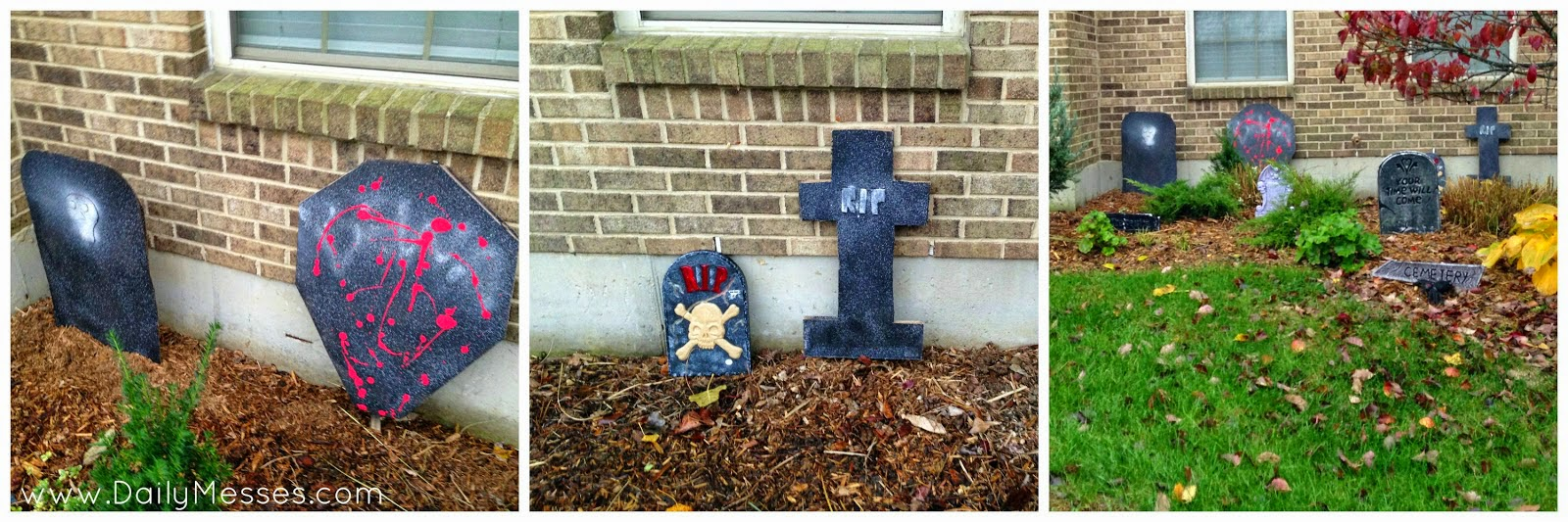 Daily Messes: Homemade Tombstones