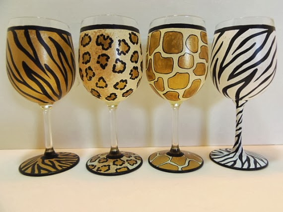 No Bake Painted Wine Glasses