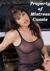 Property of Mistress Cassie, certified and registered