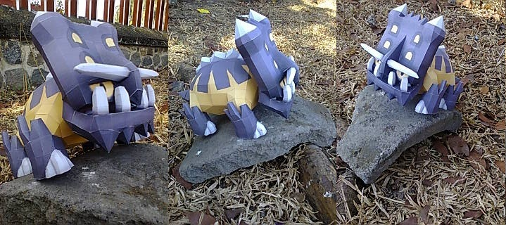 Pokemon Bastiodon Papercraft