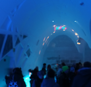 Icehotel sweden, Kiruna. Best new year, unique new year