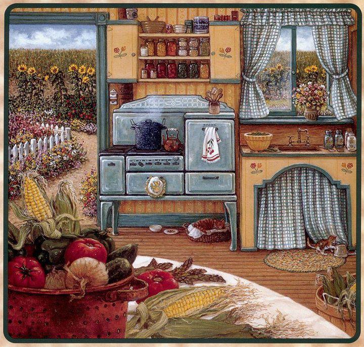 Janet kruskamp romantic realist painter tutt 39 art for Laminas para cocina