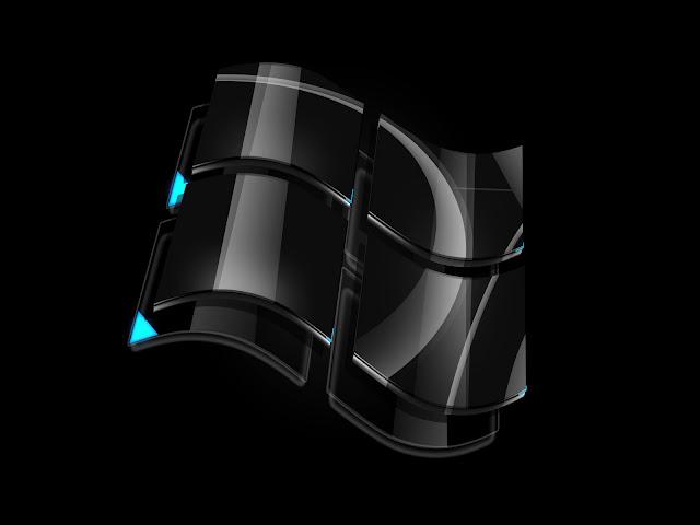 black windows vista logo wallpaper