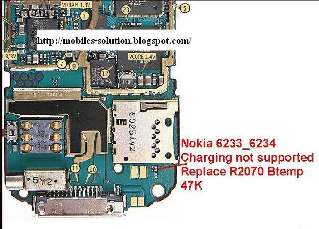 6233 6234 charging not supported problem nokia 6233 6234 charging
