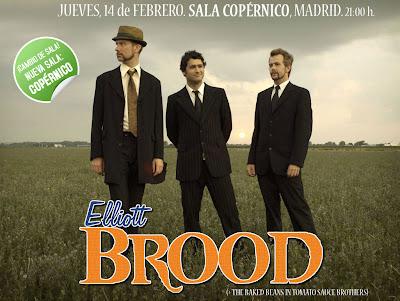 Elliott Brood en Madrid  14 de Febrero Sala Copernico