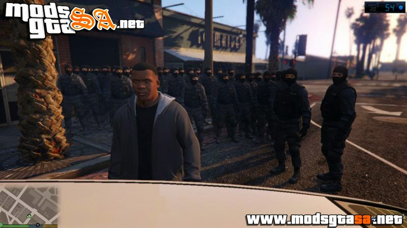 V - Mod Soldados da SWAT para GTA V PC