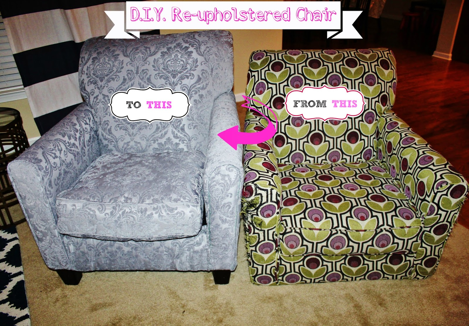 my simple modest chic diy how to re upholster a chair