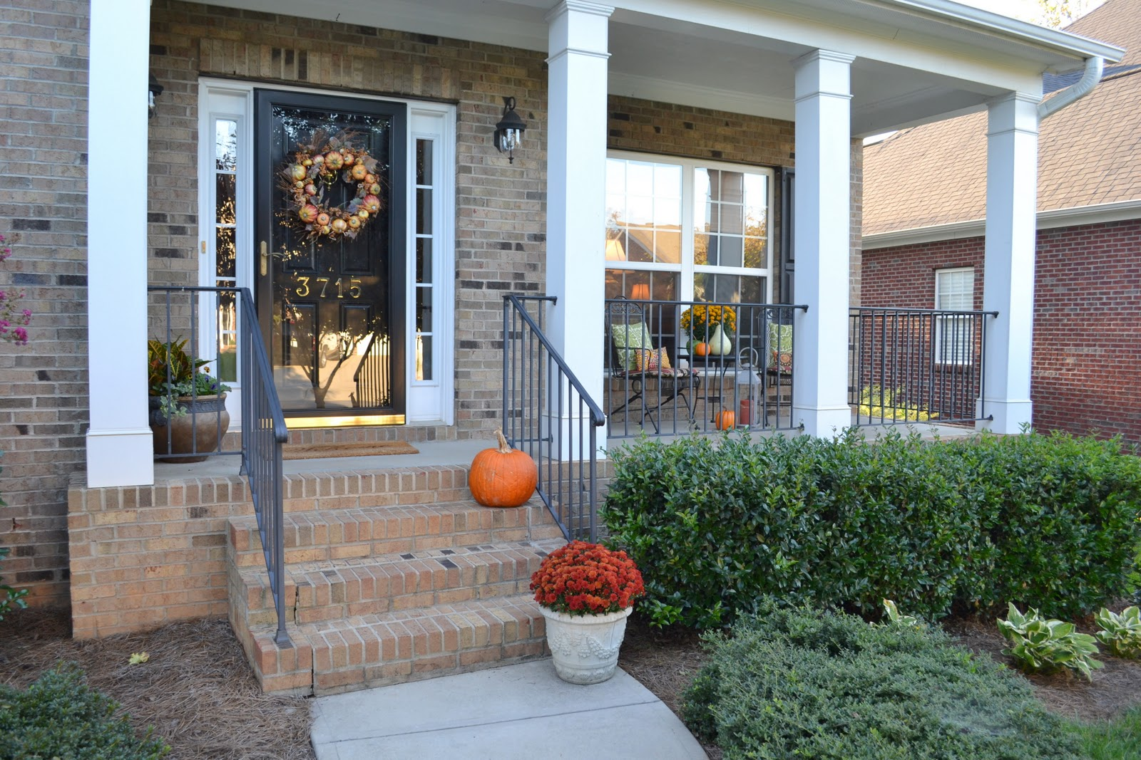 Fall Outdoor Decor On My Front Porch And Deck Worthing Court