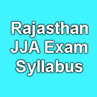 Rajasthan JJA Exam Pattern 2015
