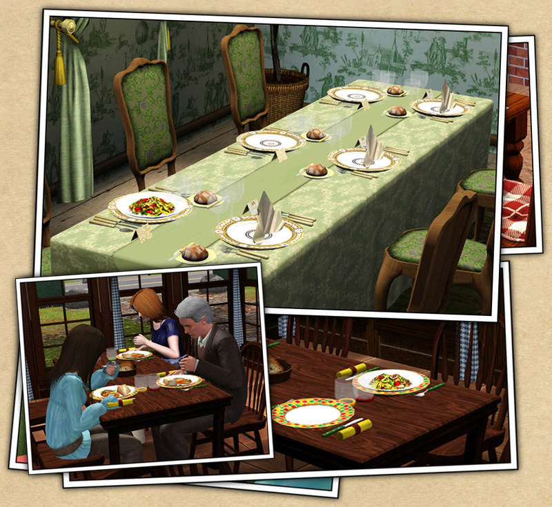 My Sims 3 Blog: Christmas Table Settings By Sandy