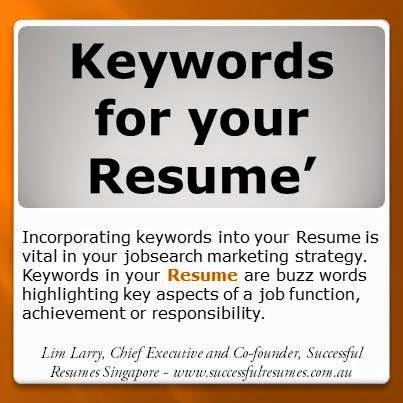 Keywords resume databases