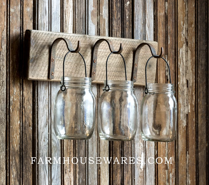 Canning Jar Wall Hanging Shelf Rack