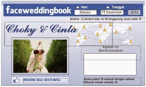 undangan pernikahan facebook