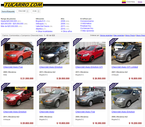 www tu carro en linea com: