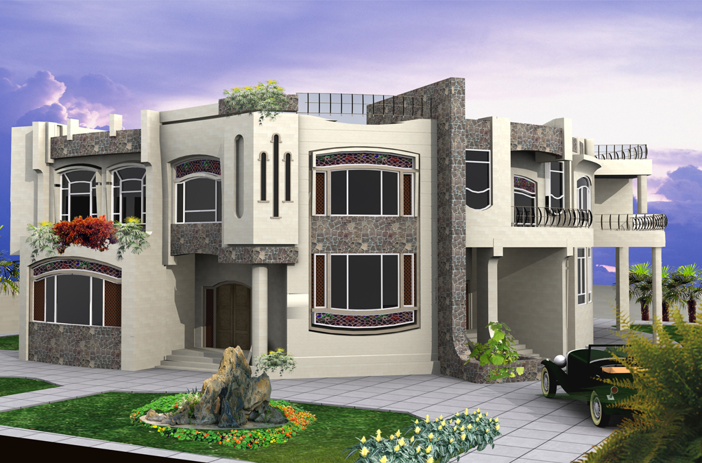 Modern residential villas designs dubai for Residential home design