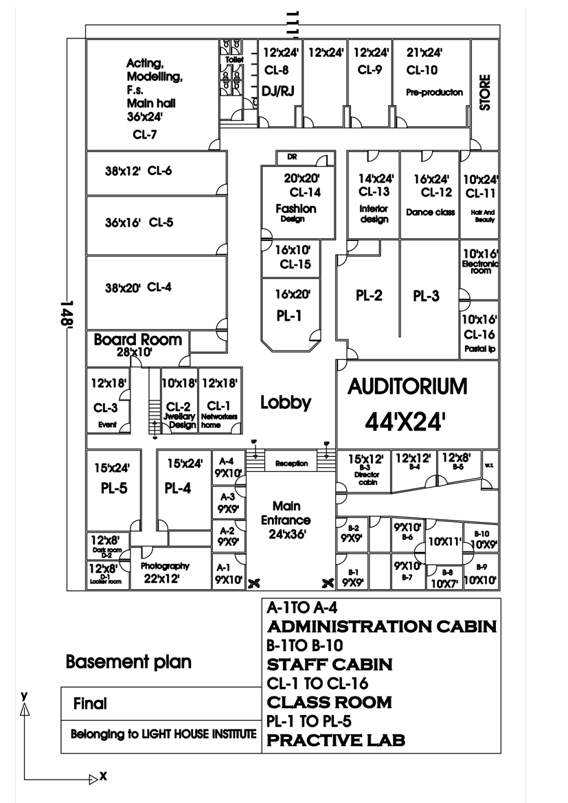 interior designer: autocad floor plan 2