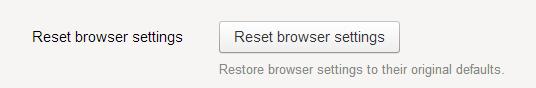 Reset trình duyệt Yandex