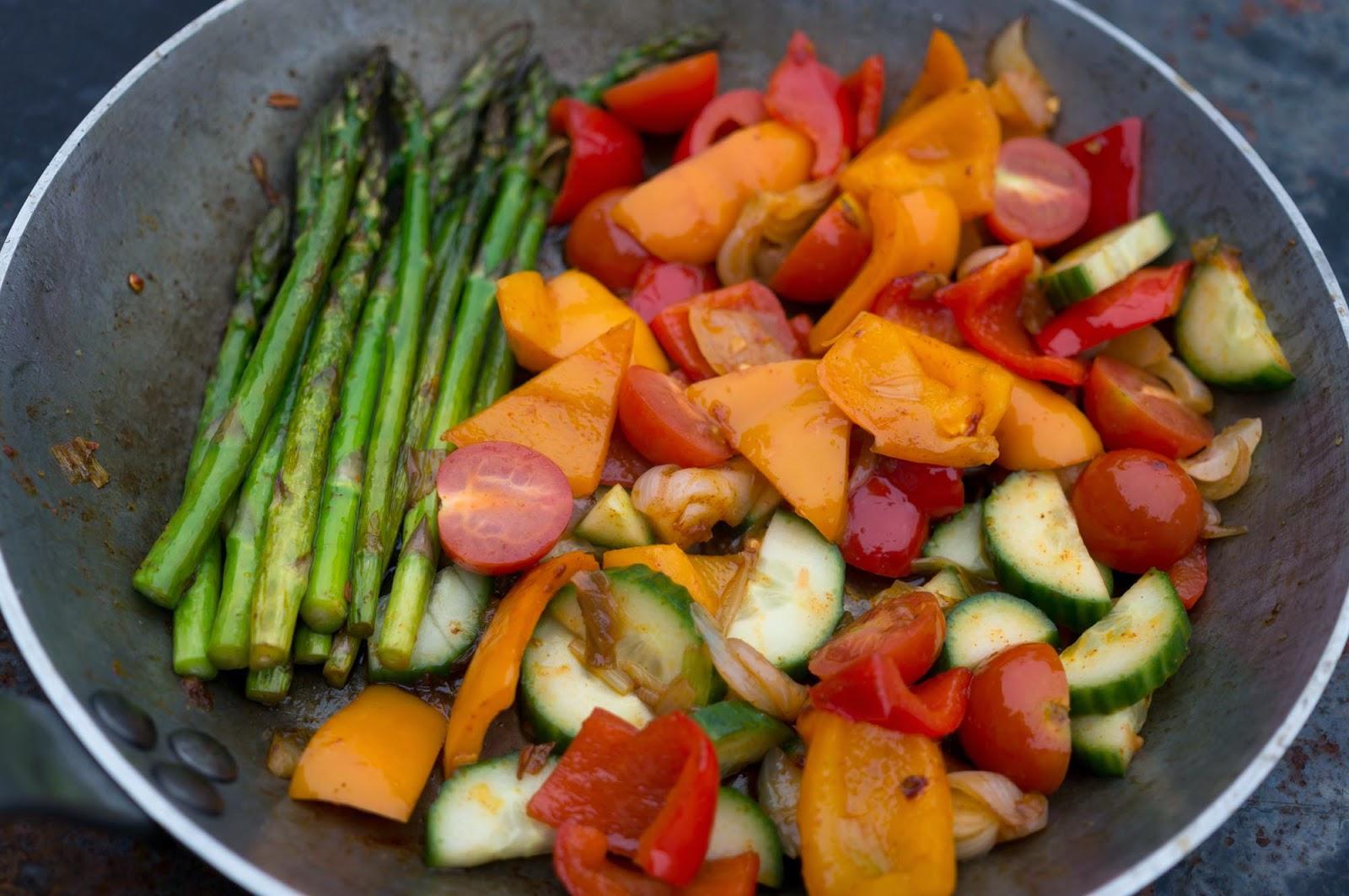 smörstekta grönsaker