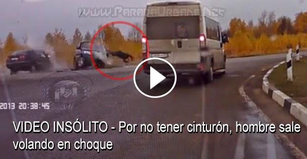 VIDEO INSÓLITO - Porno tener cinturón hombre sale volando en choque
