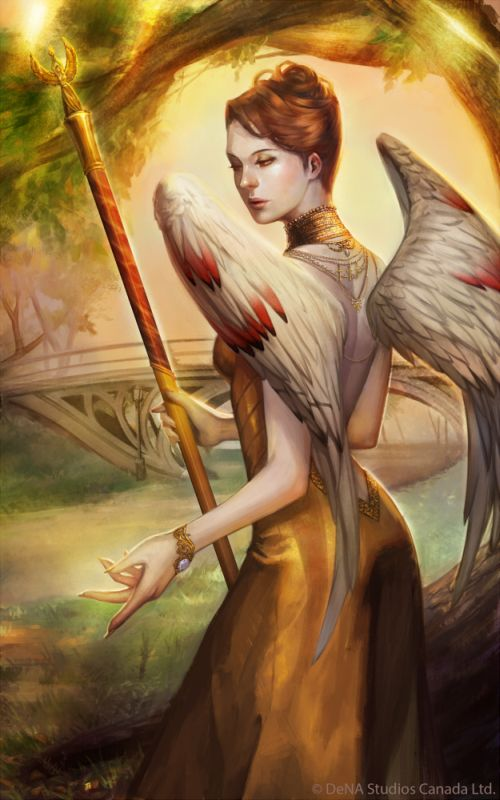 Noa Ikeda deviantart illustrations women female characters fantasy Angels