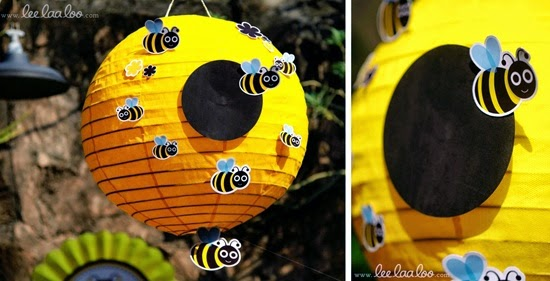 Transform Yellow Lanterns Into Beehives