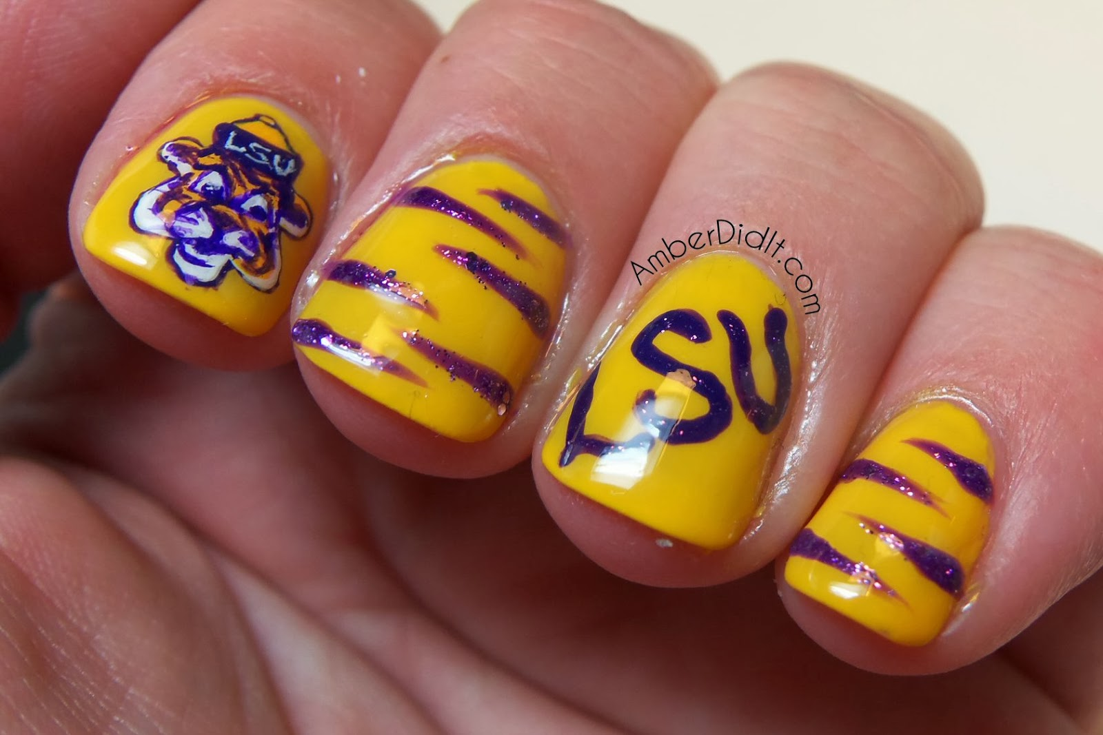 Amber Did It Geaux Tigers Lsu Nail Art