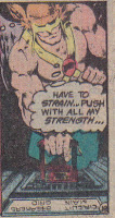Then, with the ease that a man might throw a switch; Hawkman, throws a switch!