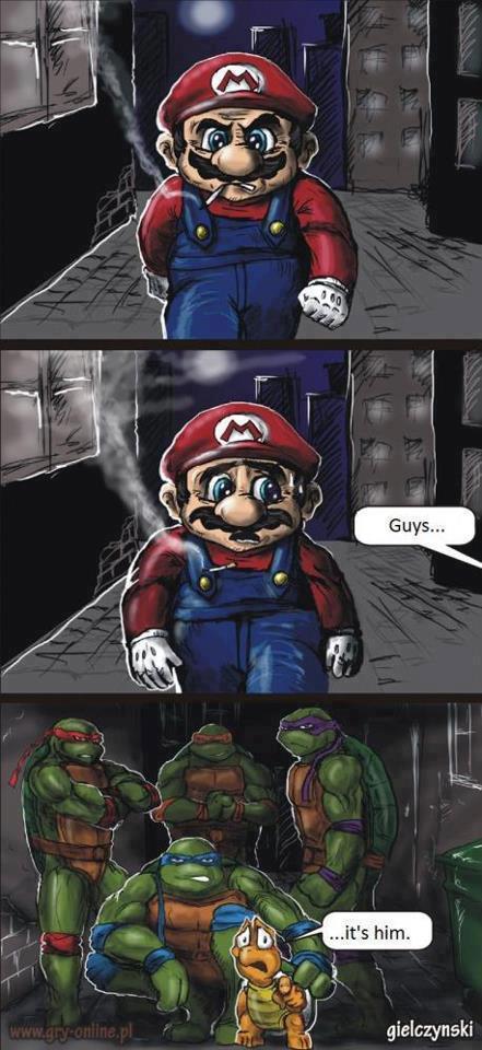 mario vs ninja turtles