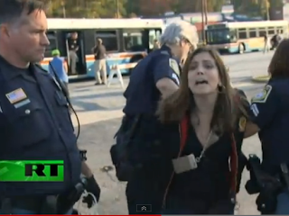 Russia Today, RT, Alex Jones, America, RT correspondent Kaelyn Forde being brutally arrested by police while covering a demonstration at Fort Benning, Police, Brutallity, Fascism, Journalist, News