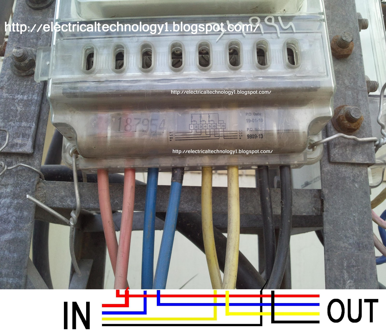 how to wire 3 phase kwh meter  electrical technology meter base wiring diagram