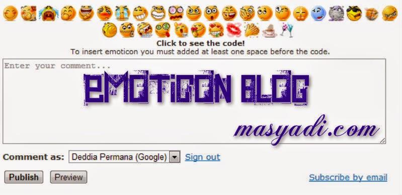 Cara Gampang Memasang Emoticon di Atas Komentar Blog