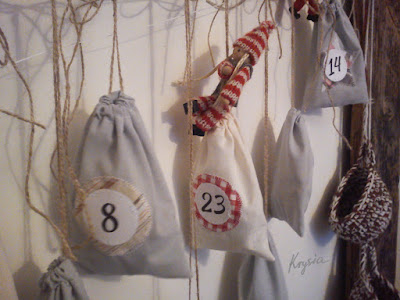 Krysia to uszyła - kalendarz adwentowy woreczki 2015