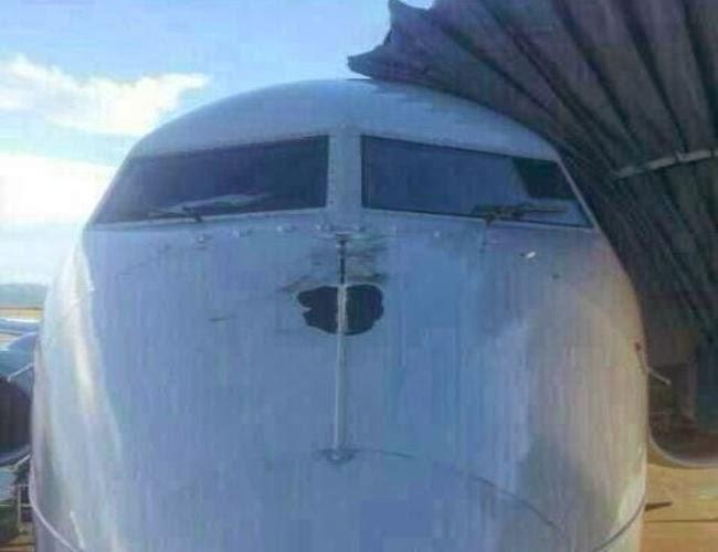 Avion Aerolineas alcanzado por un rayo
