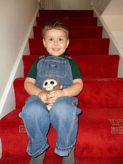 Big Boy modelling his Dungarees with Monkey