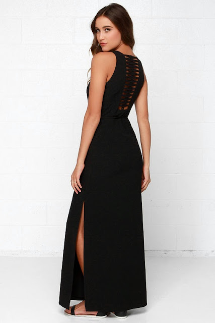 Black Swan Indulgence Black Maxi Dress $103,00