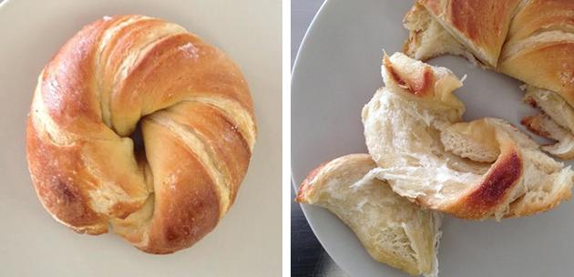 mitad cruasán, mitad bagel, cragel, cronut