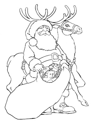 Coloring Pages Santa