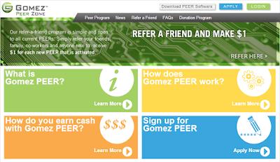 Ganar dinero con la aplicación de Gomez PEER Zone