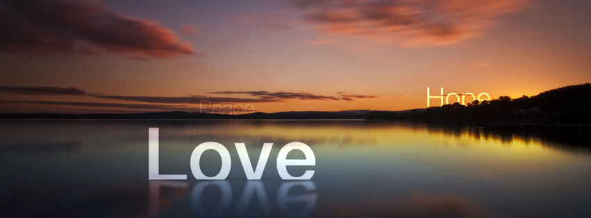 Love peace hope facebook cover