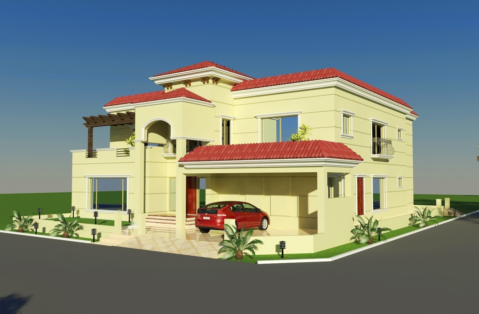 Front Elevation In Bahria Town : D front elevation  wapda town kanal
