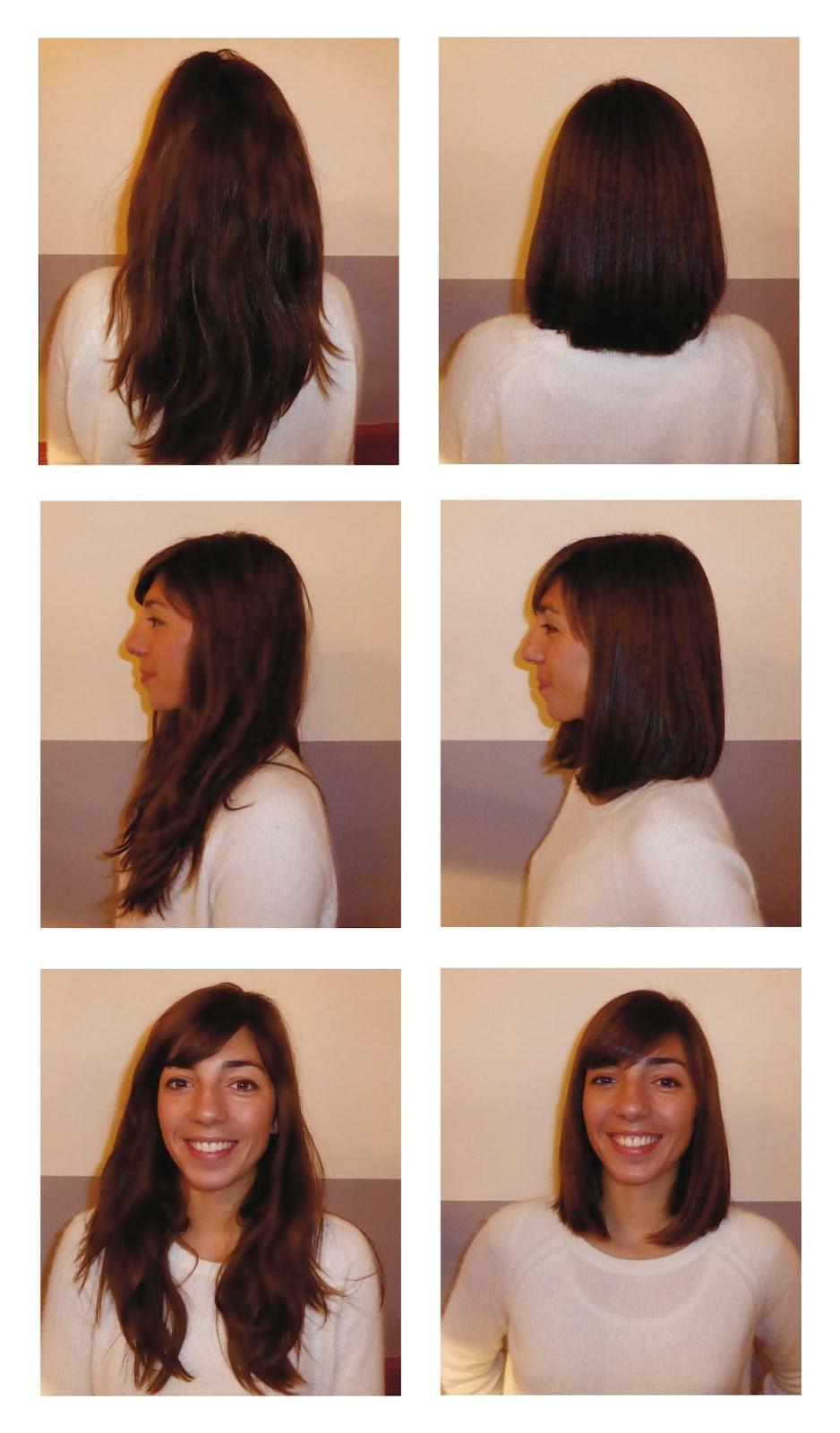Léa, avant et après sa visite au Studio 54, coupe et brushing réalisés par Eddy, coiffeur visagiste à Montpellier.