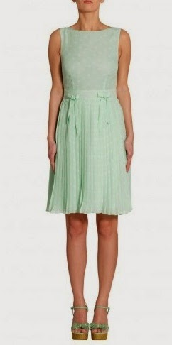 Платье в горошек цвета мяты Apart