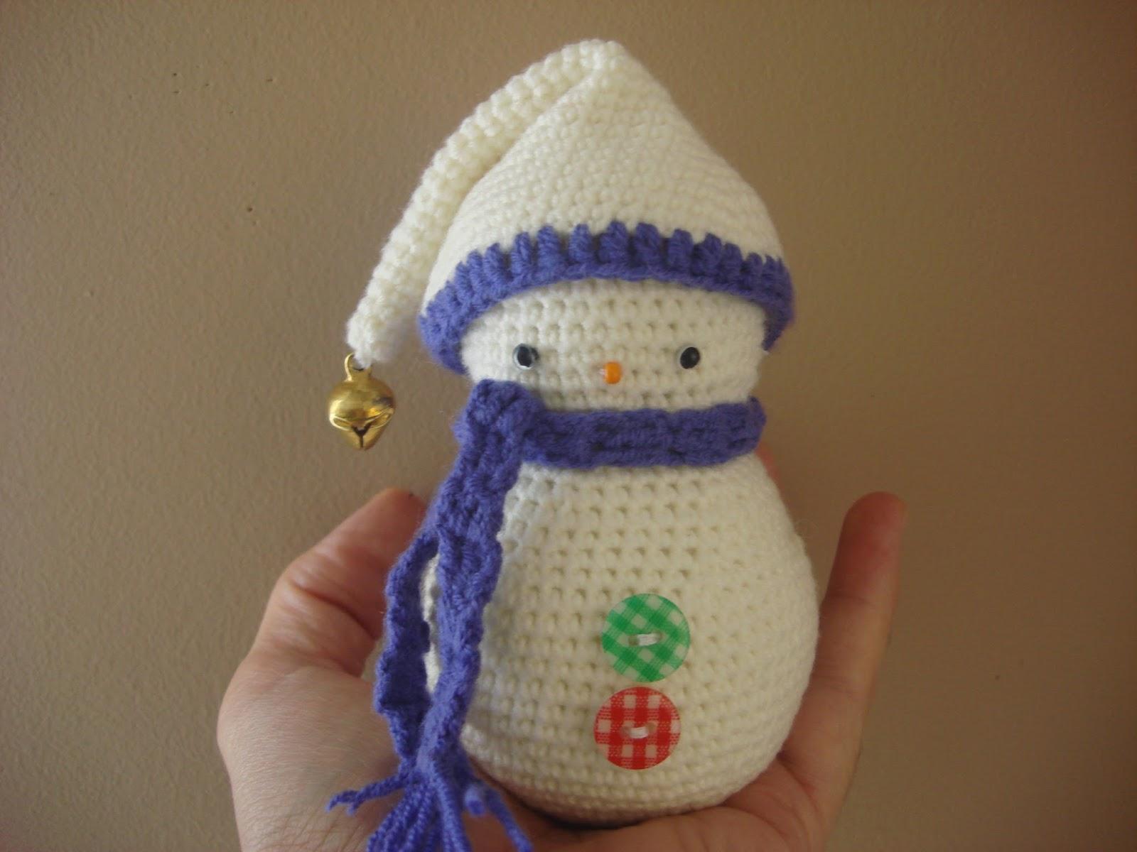 CANAL CROCHET: Muñeco de nieve amigurumi
