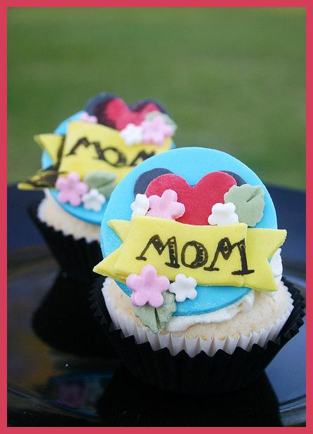 Anneler Günü Örnek Cupcake Tasarımları