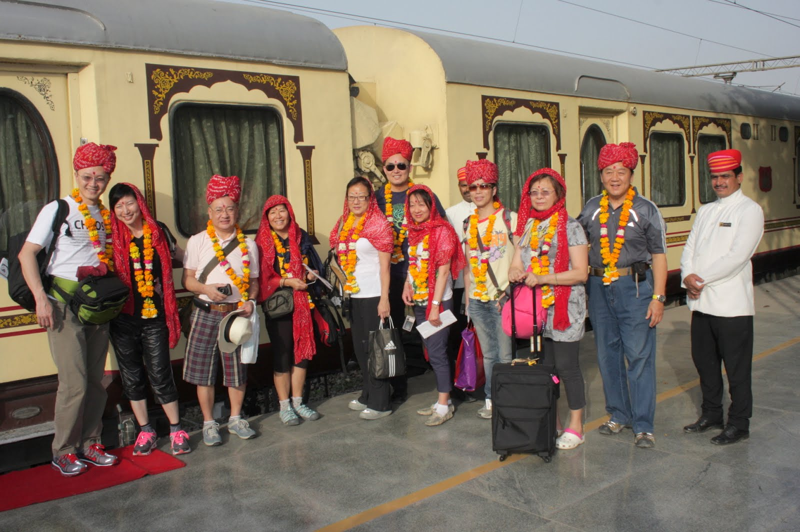 All aboard Palace on Wheels