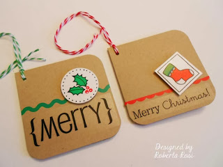 SRM Stickers Blog - Mini Christmas Cards by Roberta - #christmas #mini #cards #stickers #twine